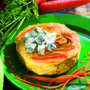 Carrot and gorgonzola pie