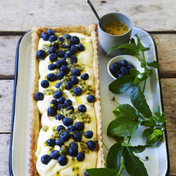 Lemon-blueberry passion tart