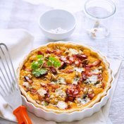 Autumnal butternut squash and Roquefort pie