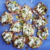 Leek & Blue cheese Toasts