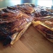 Belgian endive and goat cheese Tarte Tatin