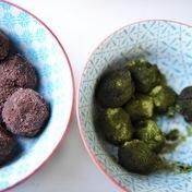 Chocolate truffles with Matcha tea