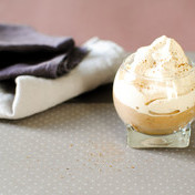 Coffee whipped cream and chestnut cream