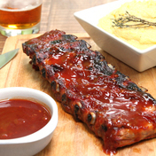 The real ribs-BBQ sauce