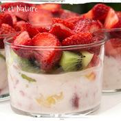 Tutti frutti salad in a glass
