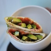 Smoked Salmon and Avocado Wrap