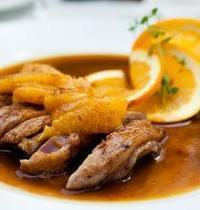 Aiguillettes de canard sauce à l'orange et au miel