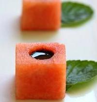 Watermelon and balsamic appetizers
