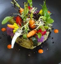 Anchoïade d'avocat et son jardin de légumes croquants