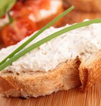 Tuna and dill cream appetizer