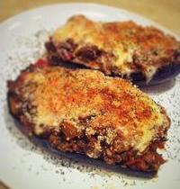 Bolognese-stuffed eggplants