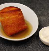 Baba Rum with vanilla whipped cream