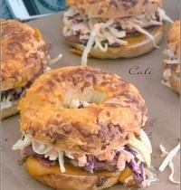 Bagels au Pastrami & Coleslaw