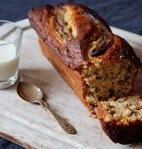 Banana bread aux noix et flocons d'avoine