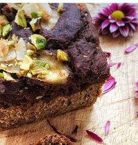 Banana bread marbré vegan sans gluten