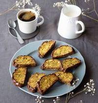 Biscotti (ou cantuccini) aux pistaches & chocolat