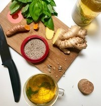 Boisson chia curcuma tonique & digestive