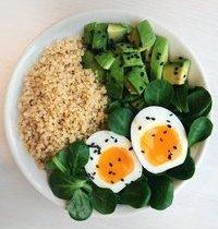 Bol Quinoa, Avocat et Oeuf Mollet