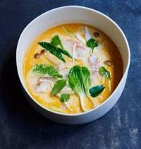 Lemongrass-kaffir lime and jumbo shrimp soup