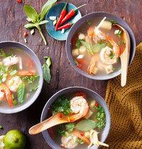 Bouillon thaï (tom yam koung)