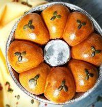 Brioche aux épices indiennes, jambon, gruyèr