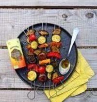 Brochettes de légumes marinés au Bouillon Le Provençal