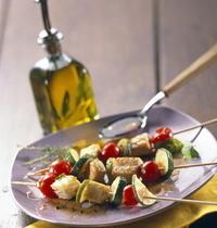 Brochettes de thon provençales