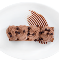 Brownie aux noix & mousse au thym by Arnaud Larher
