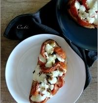 Bruschettas aux Tomates Rôties & Mozzarella