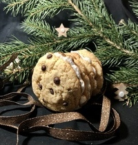 Bûche cookie meringuée