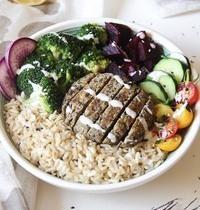 Buddha bowl et steak veggie maison