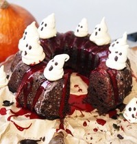Bundt cake chocolat noisette pour Halloween