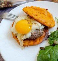 """""""Burger"""" aux Galettes de Patate Douce"""