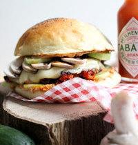 Ricotta&vegetable hot burger