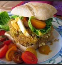 Burger végétarien pois chiches et millet
