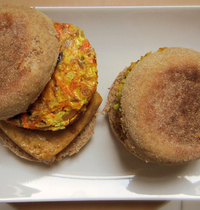 Vegetarian burger, tofu and spices