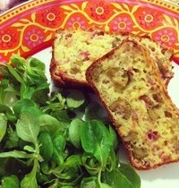 Ham, olive and gruyere cake