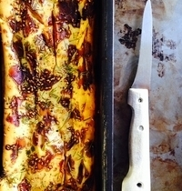 Savory goat cheese and caramelized shallot bread