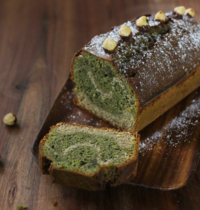 Cake marbré à la pistache