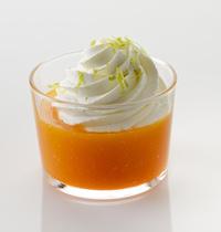 Cappuccino de carottes au citron vert