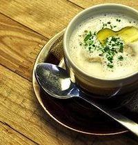 Porcini mushroom and foie gras cappuccino
