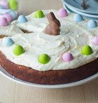 Carrot cake de Pâques, glaçage au fromage frais