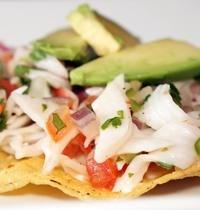 Mexican cod ceviche