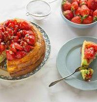 Cheesecake à la pistache & fraises