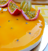 « Cheesecake » aux fruits de la passion sans cuisson {vegan}