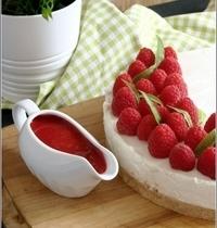Cheesecake Sans Cuisson à la Verveine & aux Framboises