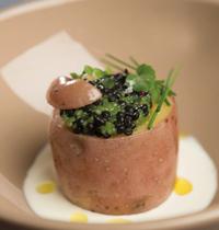 Chérie en coque au caviar de hareng