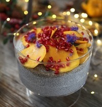 Christmas pudding graines de chia