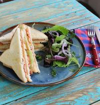 Club sandwich saumon wasabi
