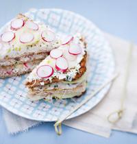 Veggie club sandwiches